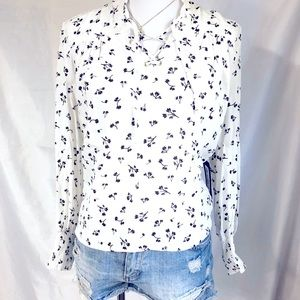 OLIVACEOUS LONG SLEEVES BLOUSE
